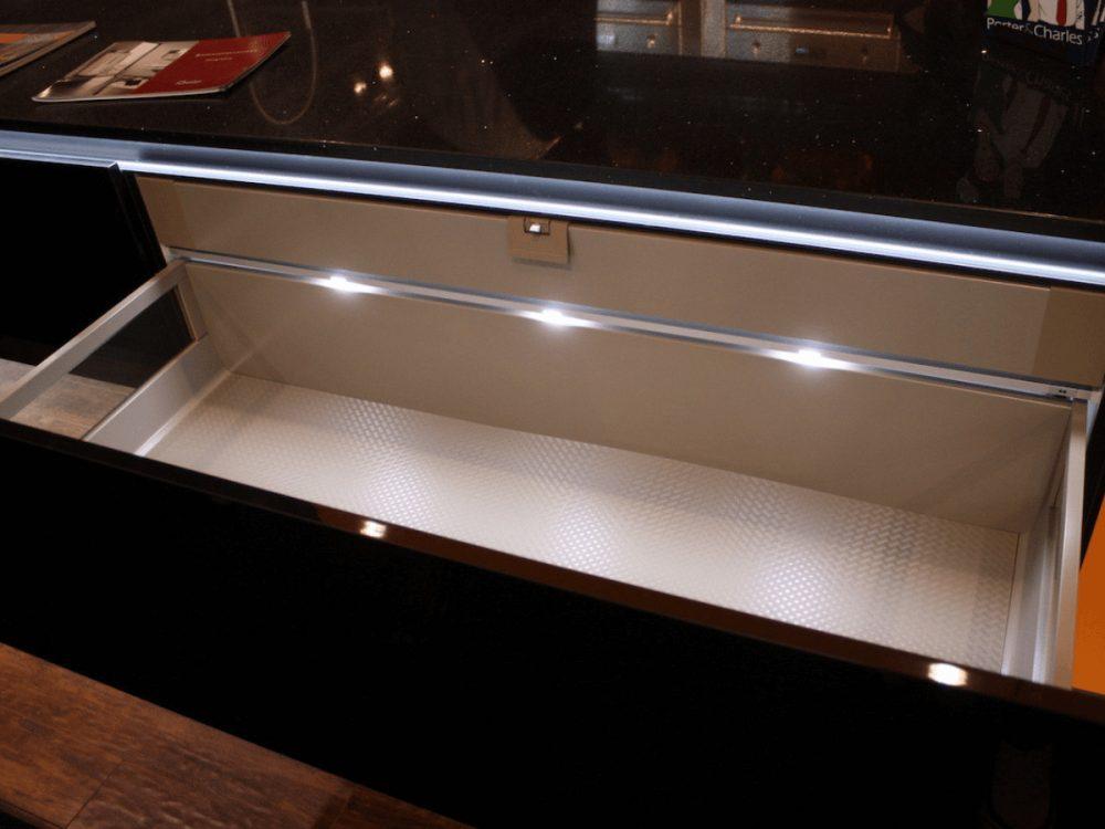illuminated countertop drawers